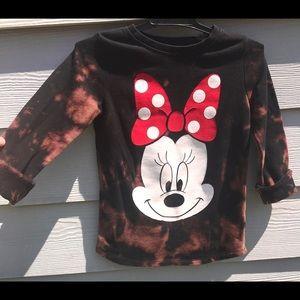 5/$25 Disney Minnie Custom Bleach Dye Sweatshirt